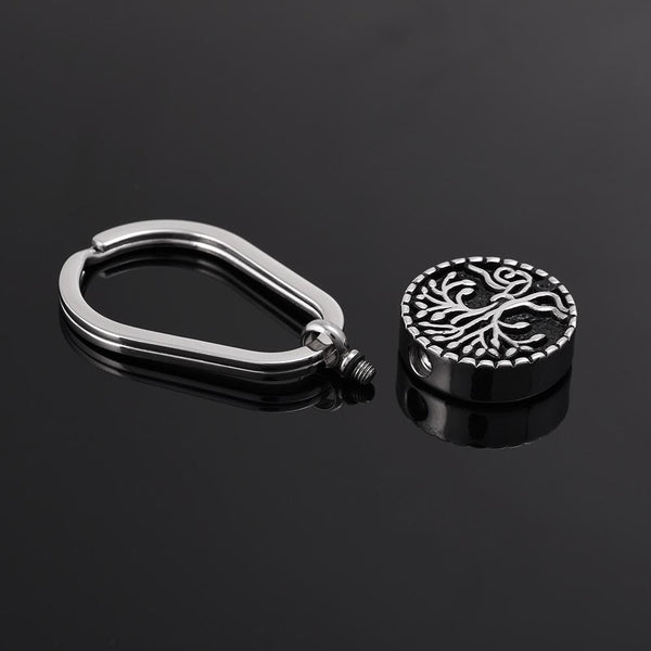Keychain - Silver Tree Of Life Cremation Urn Keychain