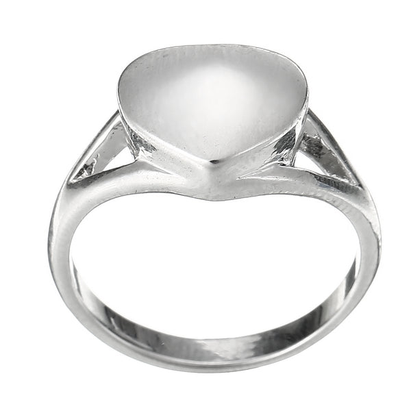 Rings - Silver Heart Shaped Cremation Urn Ring