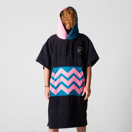 Black Wavy Panther Poncho