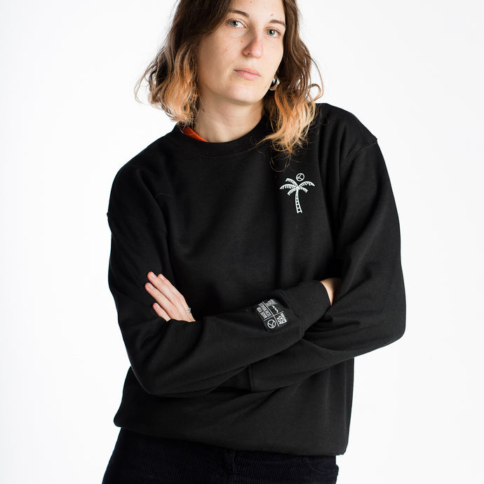 Palm Tree Black Sweatshirt