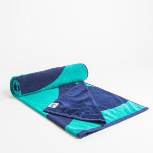 Mighty Ball Beach Towel Aqua & Blue