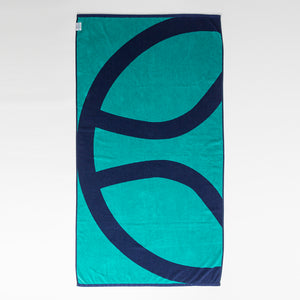 The Mighty Ball Beach Towel // Blue & Aqua