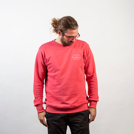 APM Badge Rasberry Sorbet Crewneck