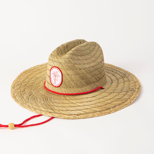 Islander Straw Hat Red