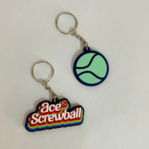 Mighty Ball & Ace Screwball Keyring