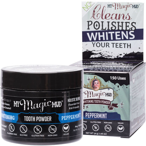 MY MAGIC MUD Whitening Tooth Powder With Charcoal - Peppermint