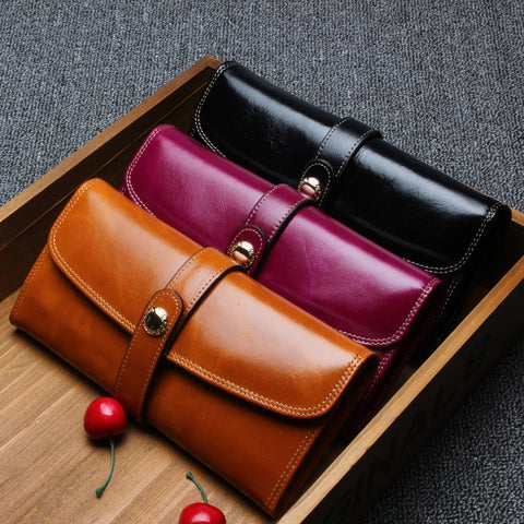 Fashion Genuine Leather Wallet Women