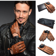 LUCA MENS SOFT LAMBS NAPPA DRIVING LEATHER GLOVES