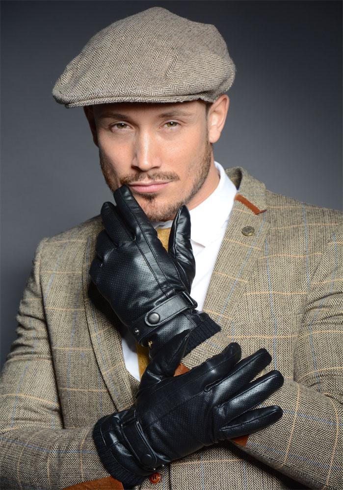 MARCO MENS SOFT LAMBS NAPPA LEATHER GLOVES