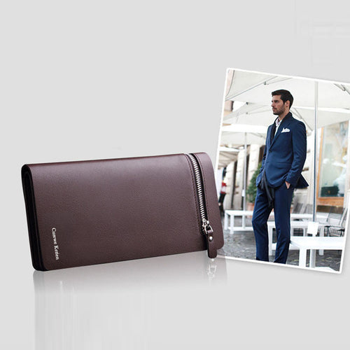 Leather Card Cash Receipt Holder Organiser Bifold Wallet Purse