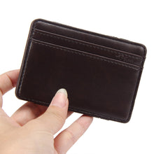 Luxury Mini Neutral Magic Bifold Leather Wallet Card Holder Wallet Purse