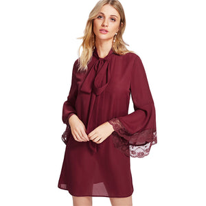 2018 Party Dresses Short with Sleeve and Collar