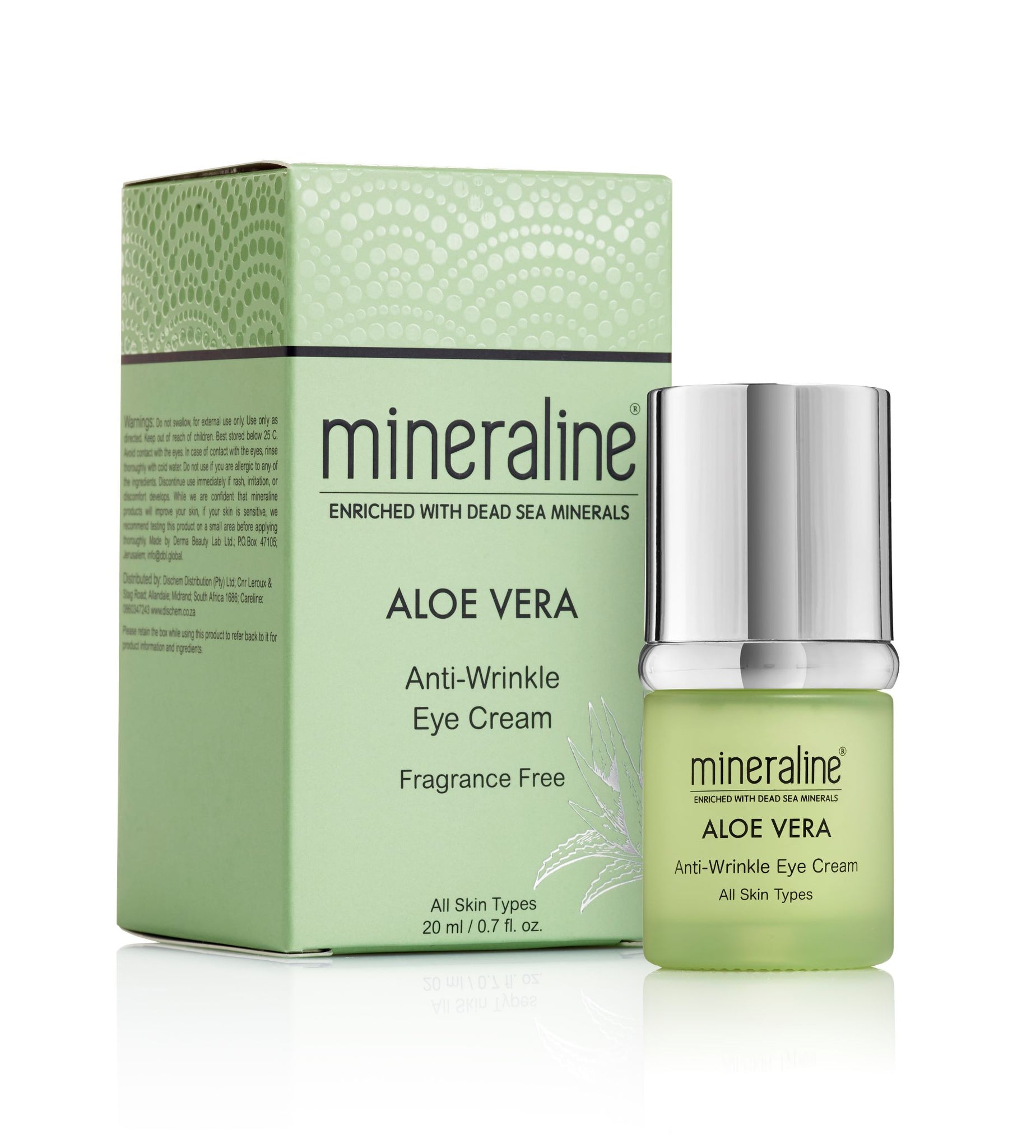 mineraline - Aloe Vera Anti-Wrinkle Eye Cream - Aloe Vera & Dead Sea minerals