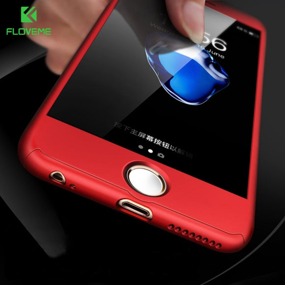 Super 3 in 1 360 Full Body Phone Case for iPhone 6 7 6s Plus Case for iPhone 7 6 Cover+Screen Protector Accessories