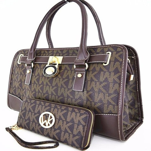 WK Collection 2-Piece Handbag & Purse Set - icollectstore