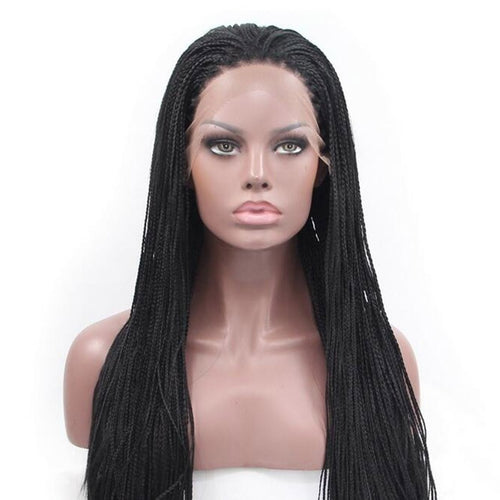 Fashion Synthetic Braid Wig with Lace Front Braided wigs for  African American Heat Hair Wigs