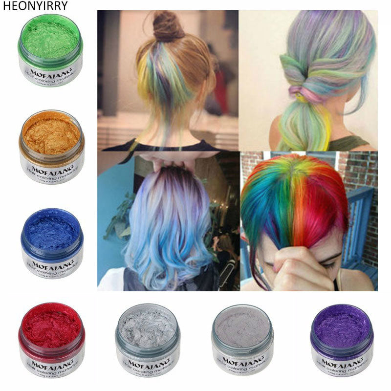Fashionunisex Color Hair Wax Dye Color Styling Temporary Colors