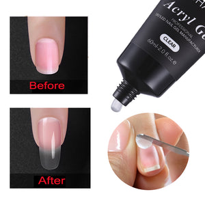 MSHARE 60ml Polygel Nails Acrylgel Poly Acryl Nail Extension Quick Building UV Builder Gel Tips Slip Solution Liquid Brush Set