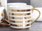 Glamor Coffee Mug: Golden Stripes
