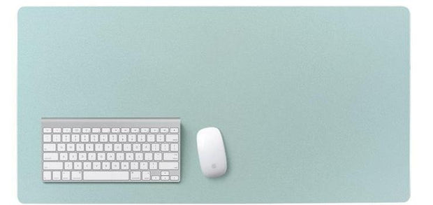 Leather Mat Mouse Pad: Light-Green