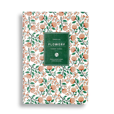 A5 Planner Notebook: Pink Flower
