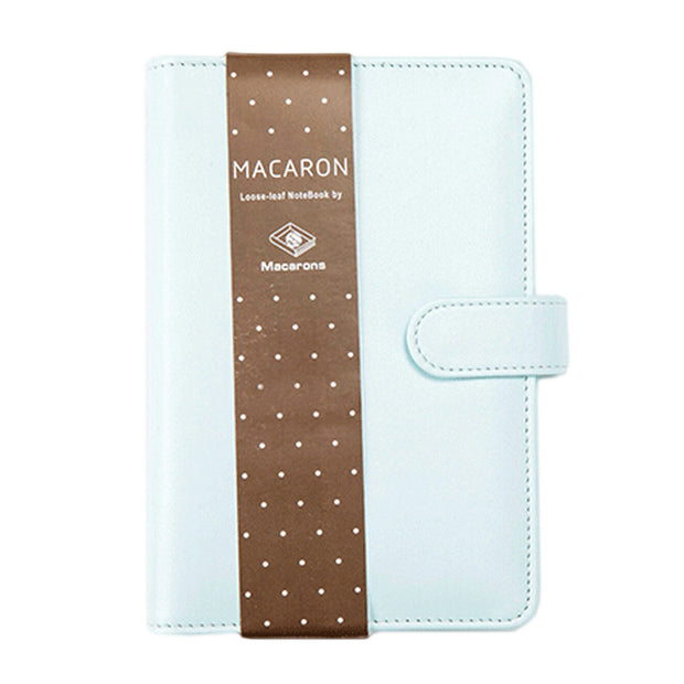 Macaron Leather  Notebook: Blue