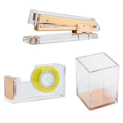 Acrylic Gold Desk Stationery set