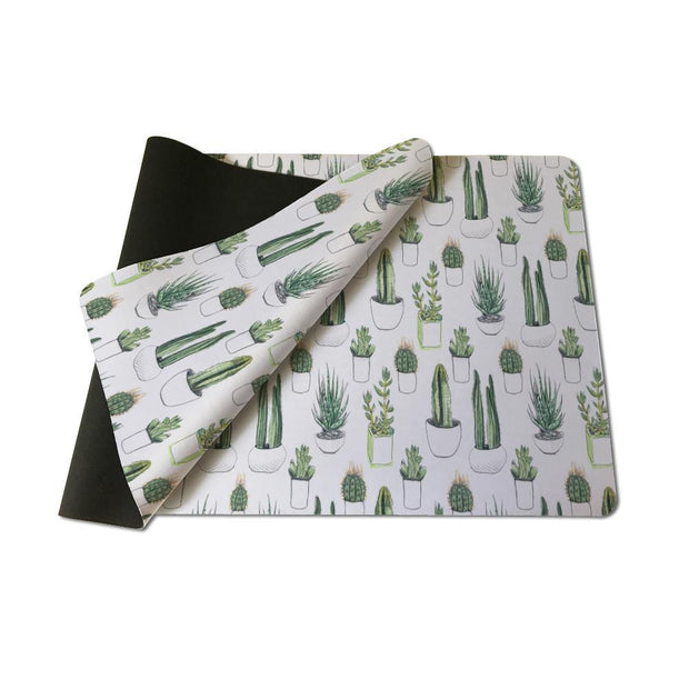 Table Mat Greenery Pattern - Large Size Mouse Pad