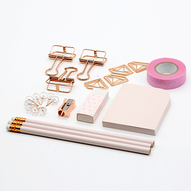 Rose Gold Stationery Set