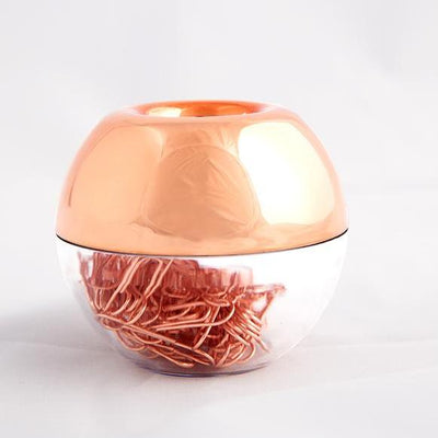Fashion Paper Clips, In Round  Holder With Magnetic Lid