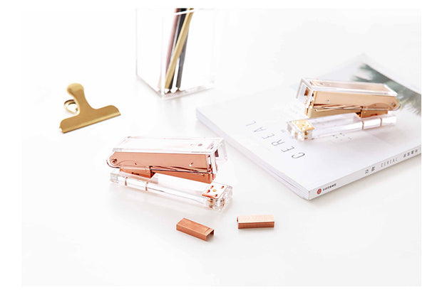 Rose Gold Acrylic Stapler