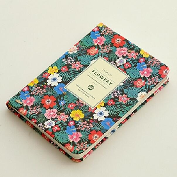 A5 Planner Notebook: Colourful Flowers