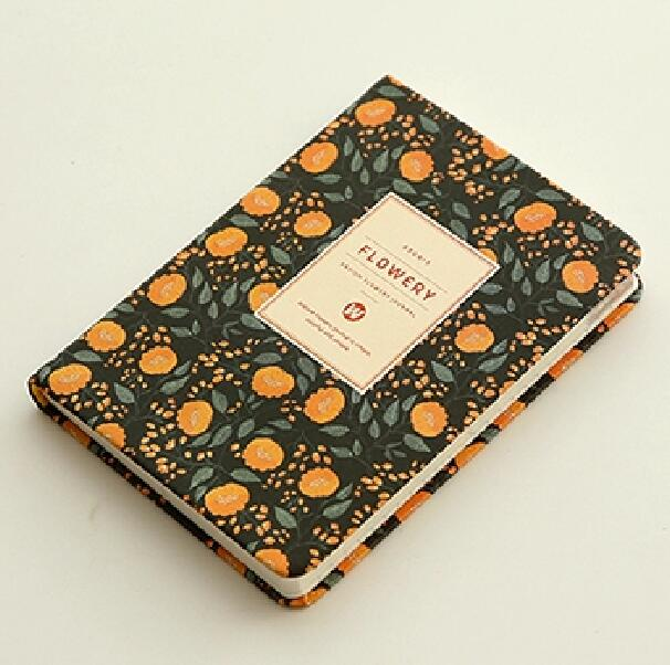 A5 Planner Notebook: Orange Flower