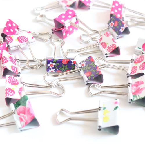 Art binder clips set