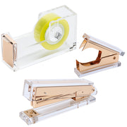 Acrylic Gold Stationery Bundle Set