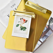 Golden Stainless Steel Clipboard