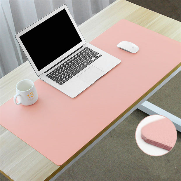 Leather Mat Mouse Pad: Pink