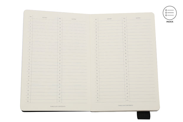 Classic Notebook Journal: Black A5