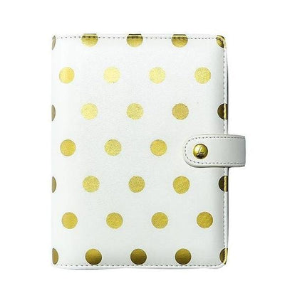 Leather Personal Planner: Gold Dots