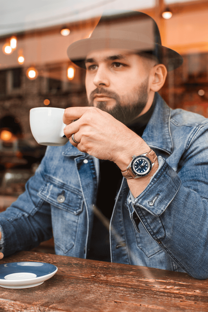 Bearded Man Having Coffee | Why An Affordable Beard Trimmer Will Get The Job Done