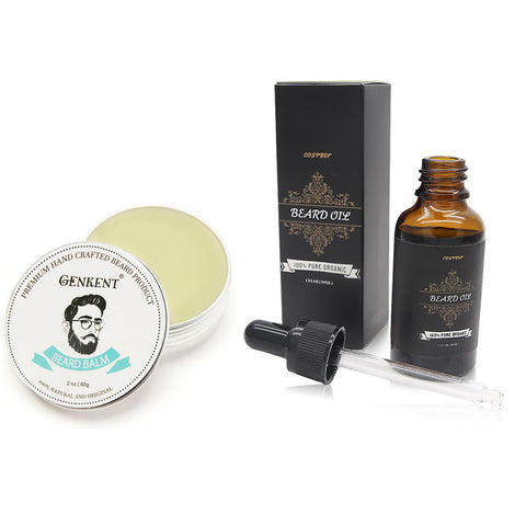 Beard Grooming Kit with Beard Balm and Beard Oil (2-piece Set)