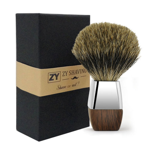 Premium Badger Wet Shave Brush by ZY Shaving | Mountain Beards