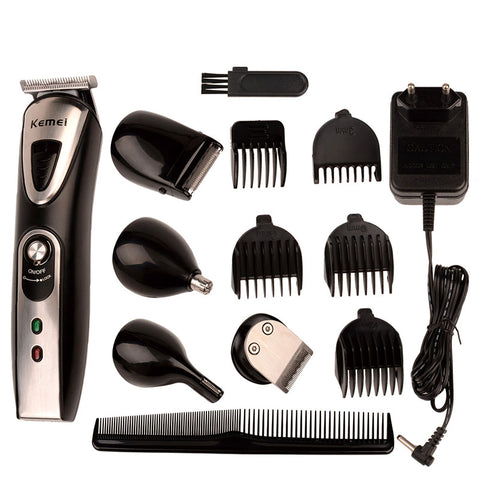 Electric Hair Clippers with Set of Haircut Styling Tools for Men
