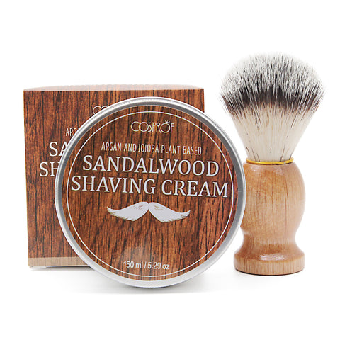 Sandalwood Foaming Beard Shaving Soap (All Natural)