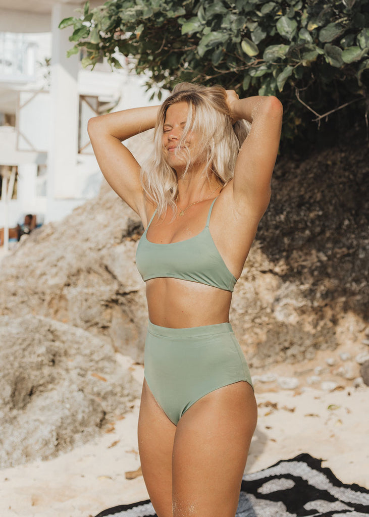 THE HEINA TOP in Sage
