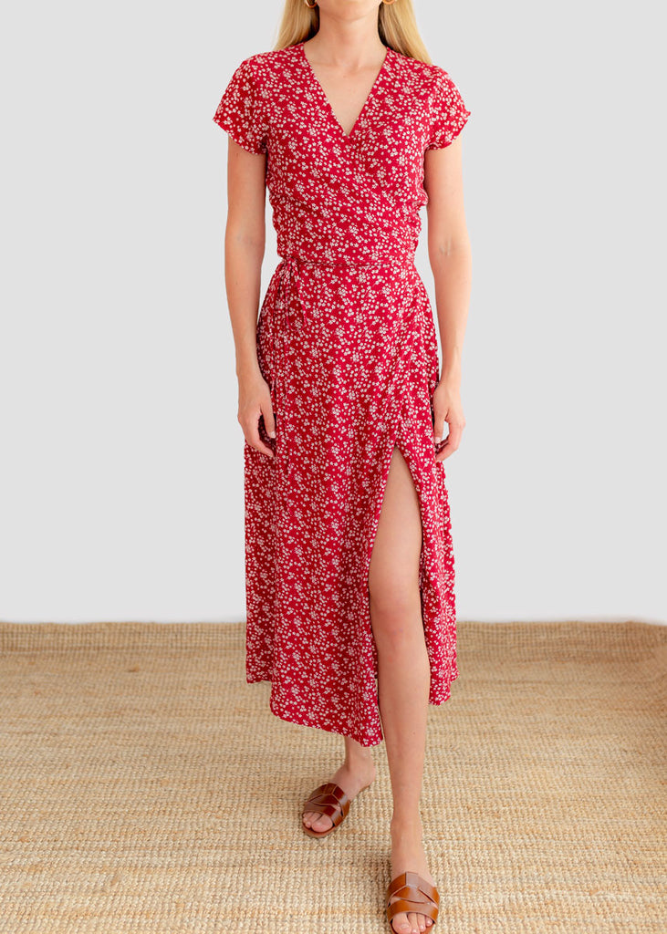 TOSCANA WRAP DRESS - FIORE FLORAL PRINT