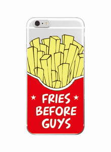 Cute Donuts Fries Before Guys Hearts Unicorn Pizza Soft Clear Phone Case For iPhone 7 7Plus 6 6S XS Max 5 8 8Plus X SAMSUNG - Pop Up Life