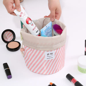 Round women makeup bag travel make up organizer Cosmetic bag female storage toiletry kit case - Pop Up Life