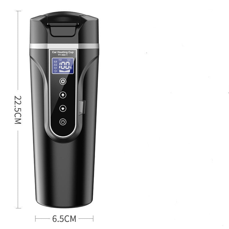 Portable Car Thermos Bottle Smart Touch Digital Display Insulated Cup Home Traveling Heating Cup Water Bottle - Pop Up Life