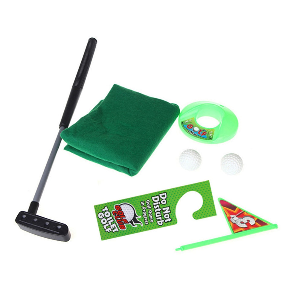 Potty Putter Toilet Golf Game Mini Golf Set Toilet Golf Putting Green Novelty Game Hig Quality For Men and Women Practical Jokes - Pop Up Life